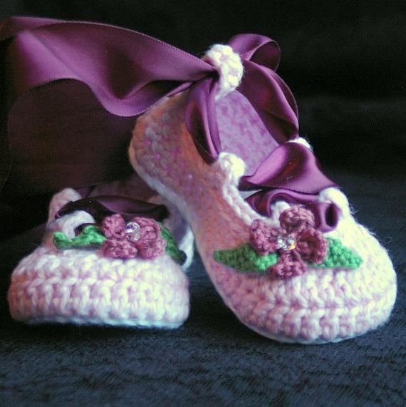 Crochet Baby Pattern Ballerina Ballet booties PDF - Pattern number 202 Instant Download