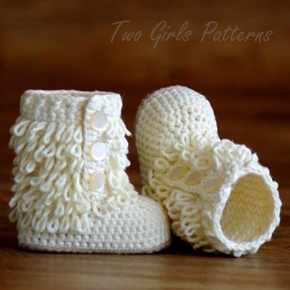 Crochet Baby Baseball Boots Pattern : Baby Crochet Boots Pattern Furrylicious Booties