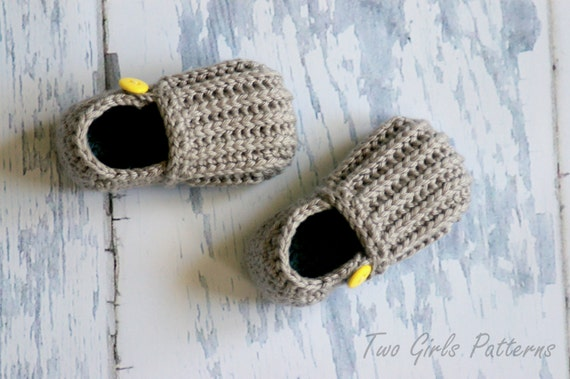 "Toddler Crochet Pattern for ""Jake"" Loafers - Toddler Sizes 4-9 Pattern number 115 Instant Download L"