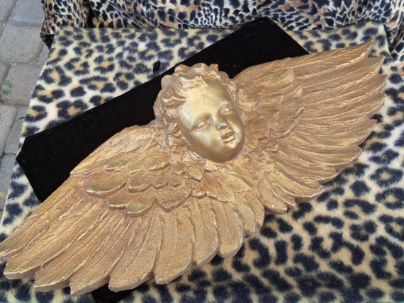 Vintage Large Angel Home Decor Wall Hanging Decoration Collectible