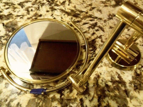 Vintage Extendable Vanity Mirror Hollywood Regency Industrial Home Decor 1960's Mad Men Mod