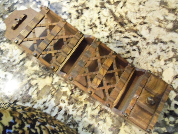 Vintage Mail Holder Collectible Rustic Home Decor Wall Hanging 1960's