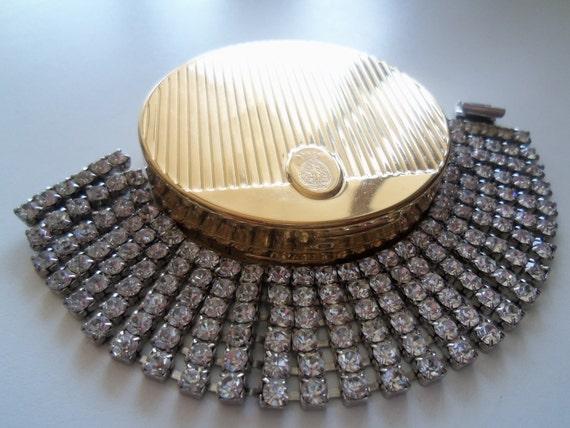 Vintage Rhinestone Bracelet 1950's 1960's Mid Century Modeern Mad Men Mod Hollywood Regency Jewelry