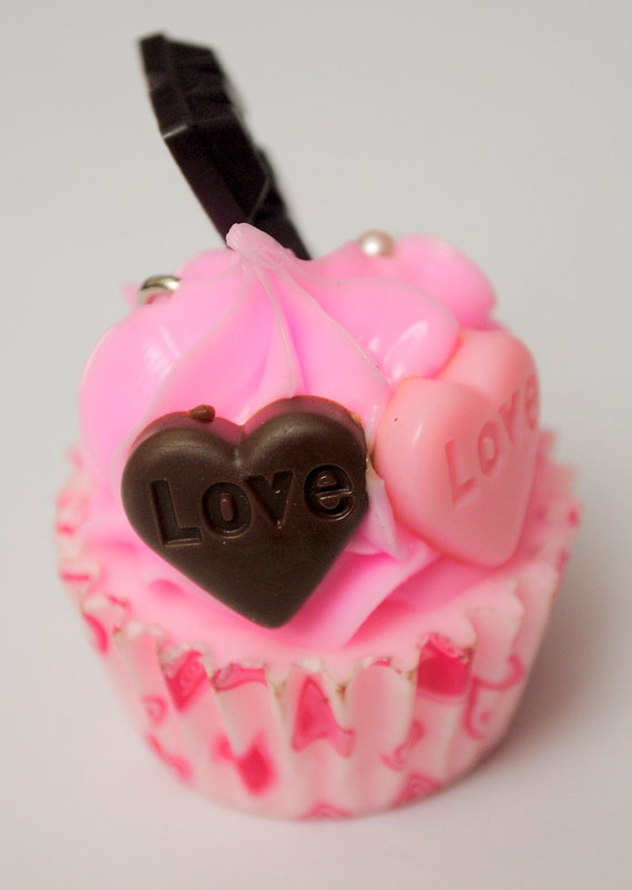 One Large Pink Cupcake Charm REDUCED PRICE