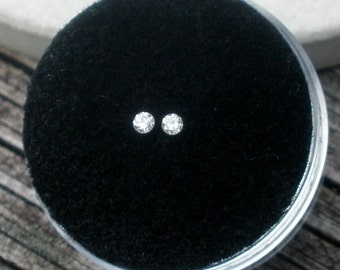 2 Loose Natural White Diamonds Loose Faceted Rounds 2.0mm each