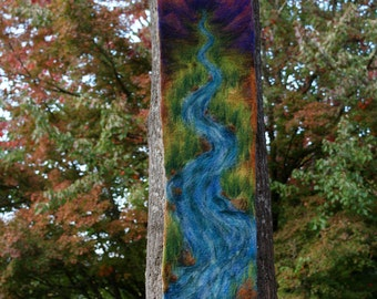 Hand Felted River Tapestry