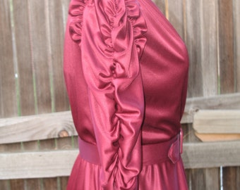 Vintage 1970s/1980s Maroon Colored Dress