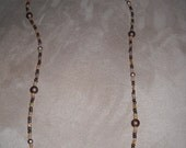 Brown and Gold Eyeglass Chain