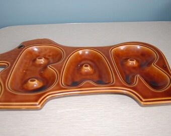 Barware tray Japan dog shaped bar tray Enesco