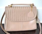 Vintage Leather Purse - Rafy Leather Handbag - Designer Leather Bag - Shoulder Bag with Strap