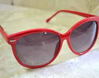 Vintage Sunglasses - Red Eye Glasses - Summer Eyewear Reading Glasses Frames - Red Frames