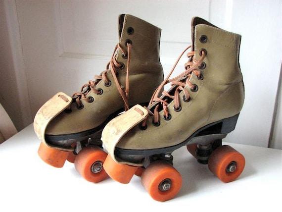 Leather Roller Skates Vintage Rollerskates Disco Age