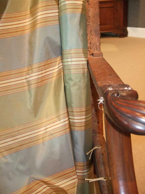 Schumacher Striped Silk Fabric