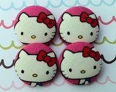 Hello Kitty Buttons - Set of Four