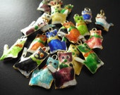 Kitty Cat charms hand painted