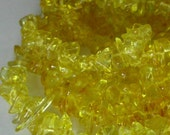 Quartz yellow chips crystal  36 inch strand