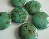Turquoise beads 1 inch  flat round pillows