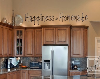 Wall Decal Happiness Is Homemade- Wall Sticker - Word Art