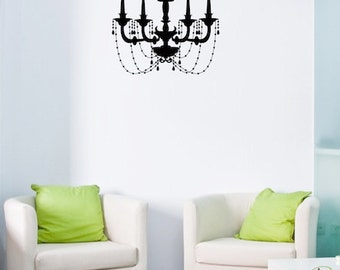 Wall Decal Elegant Chandelier  - Wall Vinyl - Wall Sticker