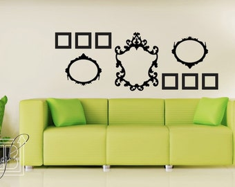 Wall Decal Frames Small Collection - Wall Vinyl - Wall Sticker