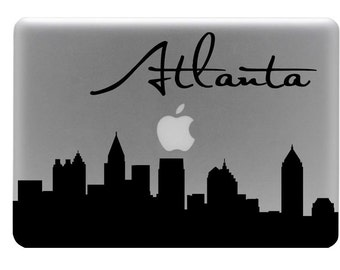 Atlanta Skyline Macbook Decal With Writing / Macbook Sticker / Laptop Decal