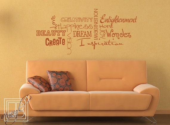 Wall Decal Inspirational Subway Art Wall Sticker Word Art