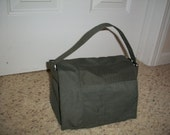 Green Scripture Tote - Military Style