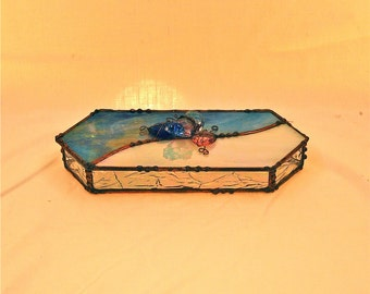 Stained glass nick-nack box