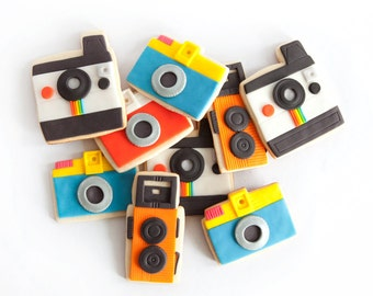 camera cookie gift box (9 camera cookies plus 3 flash cookies)