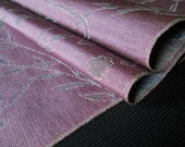 Dusty Plum, shades of greens, blues, reds - Vintage Japanese Kimono Silk