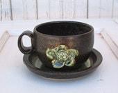 Forest Cottage Flower Tea Cup and Saucer Set - Hobby Potter
