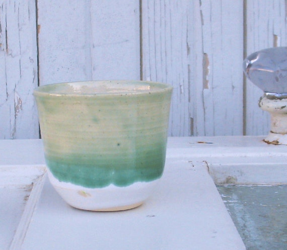 Celadon Green Tea Cup - Day 8 of 365 Days of Clay Cups Project