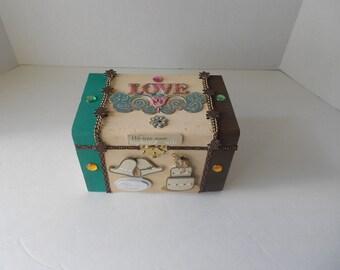 Bohemian Wedding Small Memory Box Wedding Storage Box