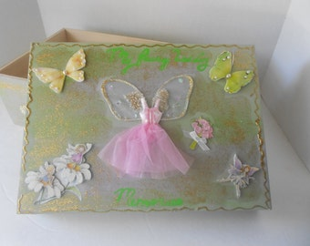 Fairy Wedding Decoupage Bridal Memory Box