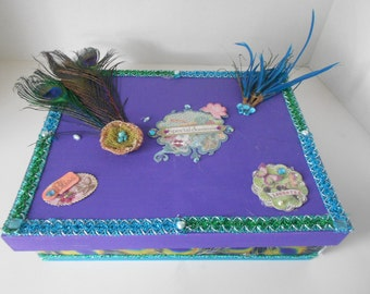 Its a Peacock of a Wedding Storage Memory Box