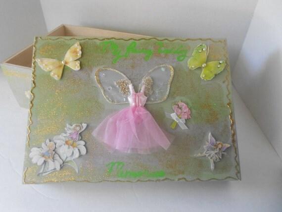 Fairy Wedding Decoupage Bridal Memory Box