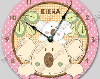 Wall clock TROPICAL PUNCH personalized Nursery art , Baby, Toddler, room decor