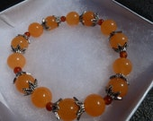Orange Topaz Gemstone Bracelet