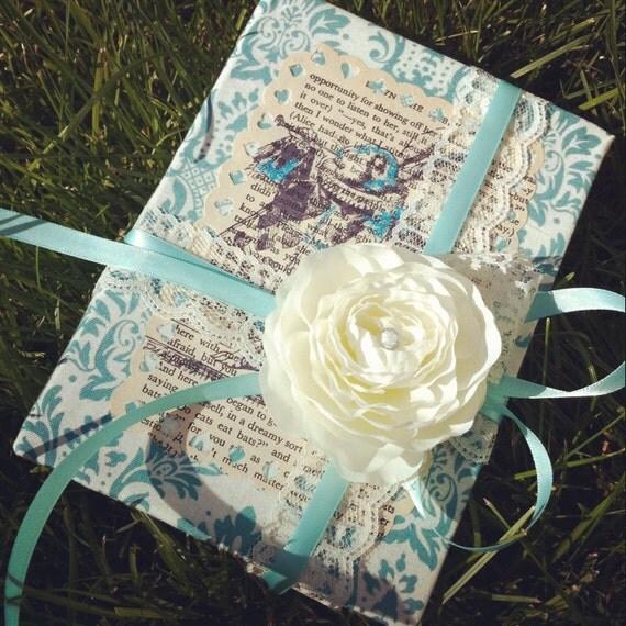 Unique Alice In Wonderland Ring Bearer Book