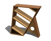 "Bookcase 3 shelf 36"" tall Wood Custom - The Offset  - a MapleBear design"