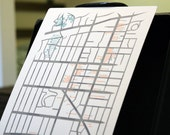 "Letterpressed ""Los Feliz Village"" Map"