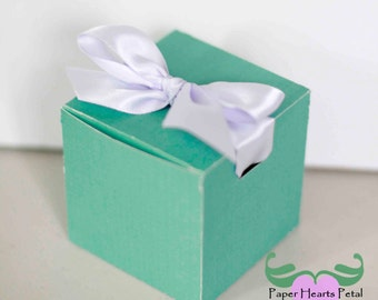 DIY Party, Wedding, Birthdays, & Showers -  Square Favor Box  - Preassembled option available - 12 boxes per pack