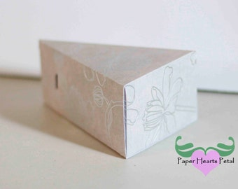 DIY Party, Wedding, Birthdays, & Showers - A Slice of Cake Favor Box  - Preassembled option available - 12 boxes per pack - 2 sizes avail.