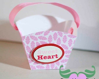 DIY Party, Wedding, Birthdays, & Showers - Valentine's Day Nut Basket Favor Box  - Preassembled option available - 12 boxes per pack