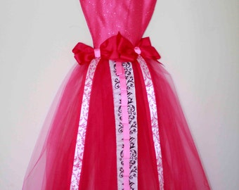Custom Large Full Size Pink Tutu Dress Hair Bows, Head Bands, and Hair Accessories Holder Organizer and Wall Decoration - Made to Order