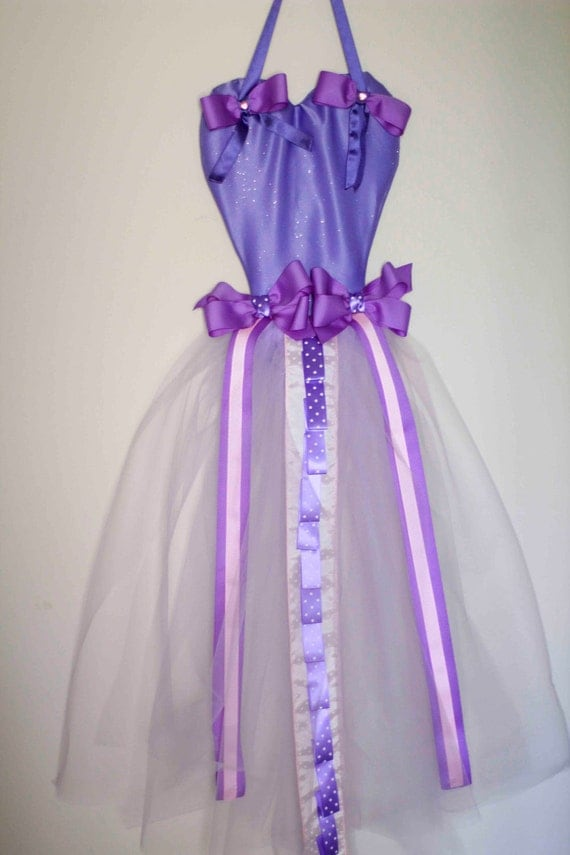 Custom Large Full Size Purple Tutu Dress Hair Bows, Head Bands, and Hair Accessories Holder Organizer and Wall Decoration - Made to Order