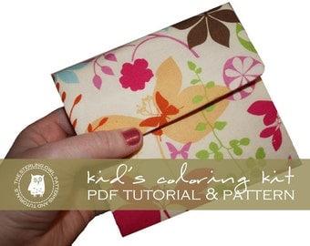 Kids Coloring Kit - PDF Tutorial & Pattern
