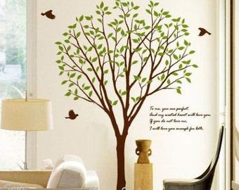 Large Tree with Flying Birds -Vinyl Wall Decal,Sticker,Nature Design