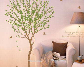Tree with Flying Birds -Vinyl Wall Decal,Sticker,Nature Design