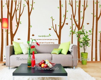 Flying Birds in the Forest-Vinyl Wall Decal,Sticker,Nature Design